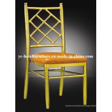 Netz Rückenlehne Gold Aluminium Fixable Kissen Chiavari Stuhl (YC-A27)
