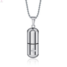Souvenir Bottle Bone Ash Capsule Pendant Necklace