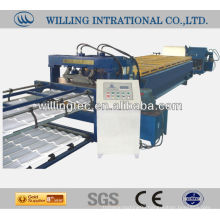 glazed steel tile cold roll forming machine