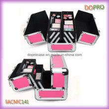 Розовый цвет Стиль Леди макияж Чехол Организатор с четырьмя лотками (SACMC141)