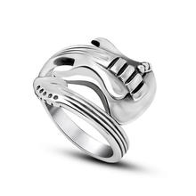 Music Guitar 316L Stainless Steel Ring Couple Fashion Jewellery