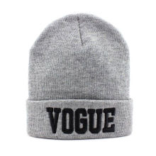 Custom Design 3D Embroidery Beanie Cap