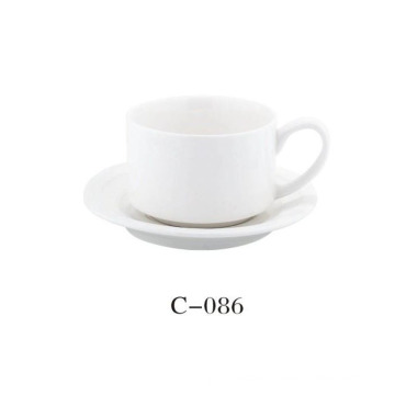 White 2 PC Coffee Cup
