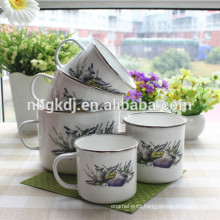 Wholesale 2015 Enamel Coffee Mug with owl decals