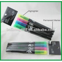 Pluma del Highlighter no tóxico con puntas dobles