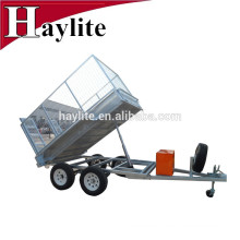 hot dipped galvanized cheap hydraulic atv tipping trailer
