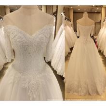 Neue Ankunfts-2017 Hochzeits-Kleid mit Hülsen
