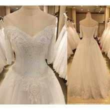 Новое Прибытие 2017 свадебное платье с рукавами