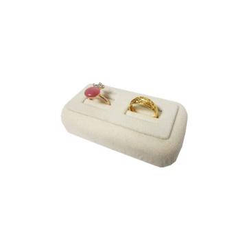 Beige Velvet Couple Ring Display Wholesale (RS-R2-BF)