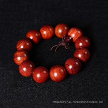 Madeira fivela religião jóias pulseira de madeira de buda