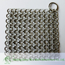 2015 Alibaba china supply steel Anti-cut glove metal rings cast iron scrubber chain mail