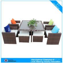 Space saving modern rattan dining furniture