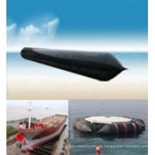 Marineschiff, der die Airbags verwendet für versunkene Schiff-Bergungs-Refloatation, schweres Anheben und Verschiebung einsetzt