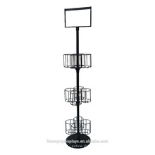 Liquor Wine Shop Stand Stand Alone Beer Merchandising 3-Layer Metall 12 Flaschen Getränke Display Racks