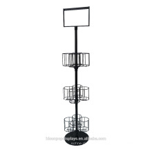 Liquor Wine Shop Floor Stand Alone Beer Merchandising 3-Layer Metal 12 Frascos Beverage Display Racks