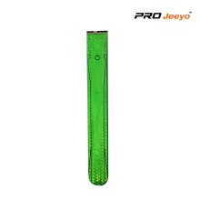Reflective PVC Green Safety LED light Slap Bracelet