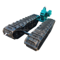 Rubber track chassis undercarriage system for dumper boat with HST hydraulic system excavator loader