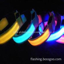 Hot Selling Waterproof LED Dog Collar, Adjustable