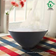 Diseño personalizado Round Green Marroquí Tazón de cerámica hecha a mano