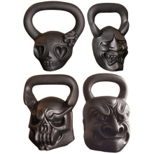 Cast Iron Skull Shape Kettlebell