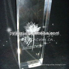 Laser Flower Cube Crystal For New Year 2013 Gift & crystal home decorations