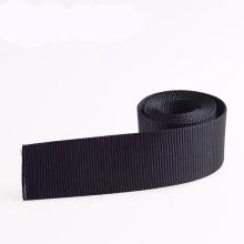 Tela negra respetuosa del medio ambiente de 1 pulgada PP / Nylon / Polyester / Cotton para la ropa y bolsos