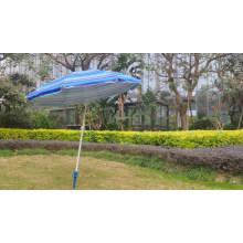 Wholesales 7ft square tilt hotel garden outdoor led light solar umbrella for beach