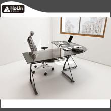 L-Shaped Home Office Black Corner Desk