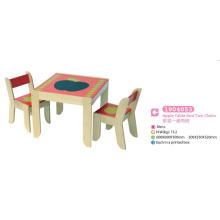 Table d'étude Table de jeu avec deux chaises Meubles en bois Meubles pour enfants