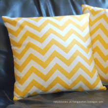 Square Zippered bordar almofada decorativa almofada de penas inserir caixa de almofada