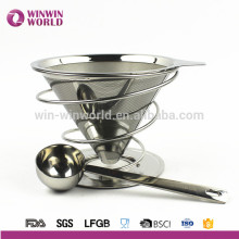 New business ideas perfect products FDA LFGB SS 304 metal coffee filter stand