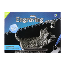 Creative Crafts Canvas Scratch Cards Silver Garfield