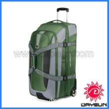 Expandable wheeled duffel with backpack straps