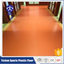 Plancher en plastique d'utilisation de salle commerciale de revêtements de sol en plastique de Tearproof