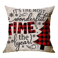 Новый рождественский простой стиль Hot Amazon Throw Cushion Cover