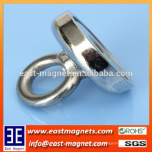 neodymium magnet pots with hook ring/ndfeb magnet pots for sale