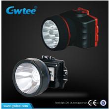 Mineração sem fio recarregável farol LED