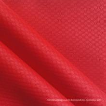 Polyester Double Line Diamond PVC / PU Tissu Ripstop