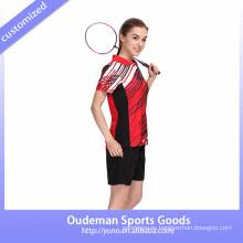 2017 Dry fit nuevo diseño uniforme de bádminton mujeres
