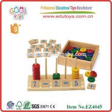 Jogo de estudo de número de venda quente popular brinquedos de madeira de contagem de madeira