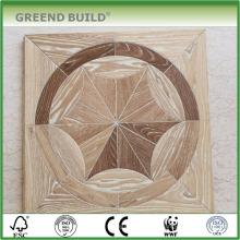 Assoalho de madeira de parquet branco lavado interior de cinza
