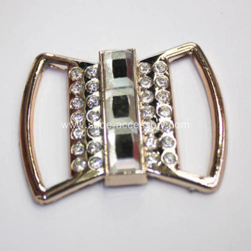 Fashion Metallized Plastic Bow Clips with Diamond Embellishment