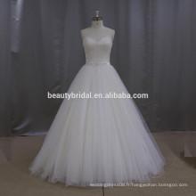 Nouveau modèle en polyester dresser une courte description de la robe de mariée