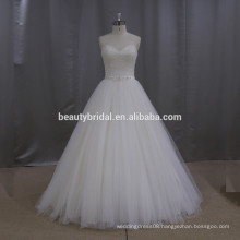New model polyester dress a line short description of wedding dress