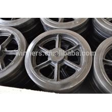 Ruedas industriales de acero inoxidable del echador de las ruedas del echador resistente