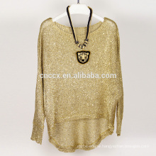 15JWS0510 woman spring summer pullover knitwear with sequins