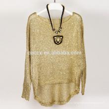 15JWS0510 женщина весна лето пуловер свитер с блестками