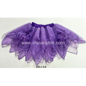 An Irregular Purple Skirt