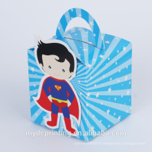 Boîte de papier d'emballage de nourriture imprimée personnalisée boîte de papier de gâteau de dessin animé