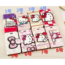 """Hello Kitty Cartoon Flip PU Leather Stand Case Cover for iPhone 6 4.7 and 6 Plus 5.7"""""""